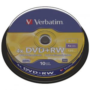 Verbatim DVD+RW 4.7/120 4x Mat silver 43488-0