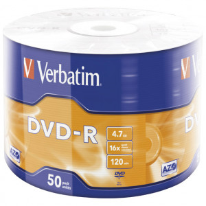 Verbatim DVD-R 4.7/120 16x Mat silver wrap 43788-0