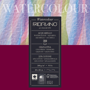Fabriano aquarell 200g 20x20/20L 72612020-0