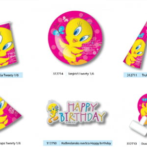 PARTY Looney Tunes Tweety tanjirići 312714-0