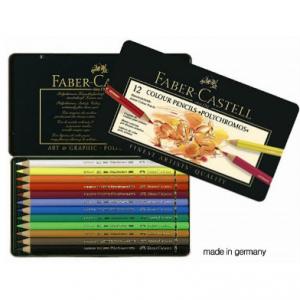 Faber Castell 12 Colour Pencils `Polychromos` 110012-0