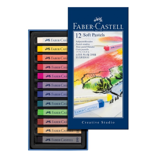 Faber Castell soft pastel crayons 128312-0