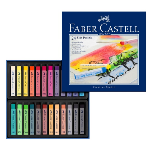 Faber Castell soft pastel crayons 128324-0