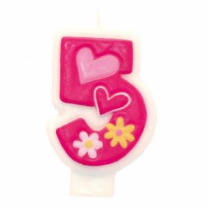 PARTY Birthday Girl svećica broj 5 551745-0