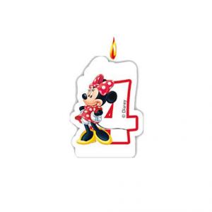 PARTY Minnie Mouse Birthday svećica broj 4 482923-0