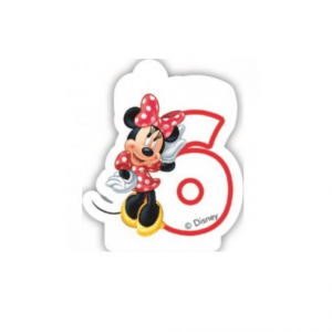 PARTY Minnie Mouse Birthday svećica broj 6 482925-0