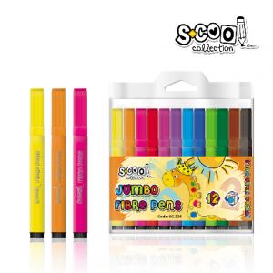 SCOOL flomasteri 1/12 Jumbo SC326-0