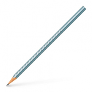 FABER CASTELL Olovka Grip HB Sparkle 118249 blue metallic-0