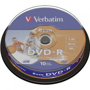 Verbatim DVD-R 1.4/30 4x AZO Printable 43573-0