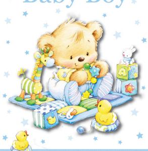 Čestitka Baby Boy 6729C-0