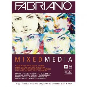 Fabriano mixed media 250g 21x29.7/40L 19100381-0
